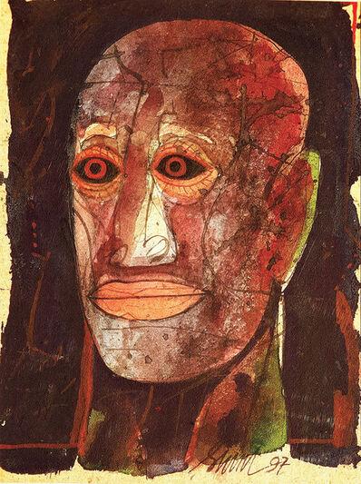 "Sunil Das, 'Head Series III, Mixed Media on Board by Padmashree Artist Sunil Das ""In Stock""', 1997"