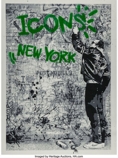 Mr. Brainwash, 'The Wall (Green)', 2009