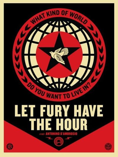 Shepard Fairey, 'Let the Fury Havc the Hour ', 2013