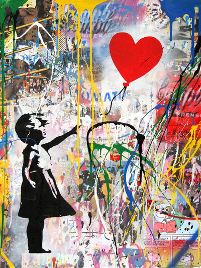 Mr. Brainwash, 'Balloon Girl', 2017