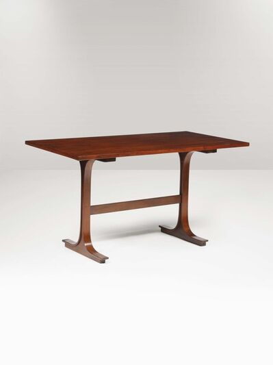 Gianfranco Frattini, 'A writing desk with a wooden structure', 1950 ca.