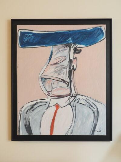 Juan Barjola, 'Retrato apócrifo de torero', 1986