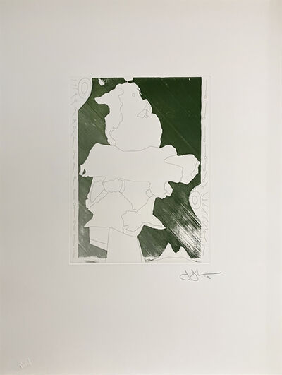Jasper Johns, 'Green Angel', 1996