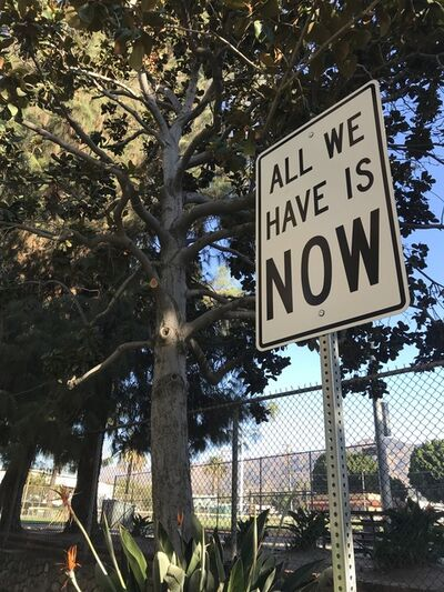 """Scott Froschauer, '""""All We Have Is Now"""" - Contemporary Street Sign Sculpture', 2019"""