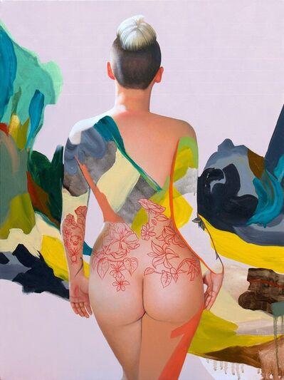 Kim Leutwyler, 'Kim with Blue and Green', 2018