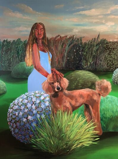 Ally White, 'Petting the Poodle in the Garden', 2018