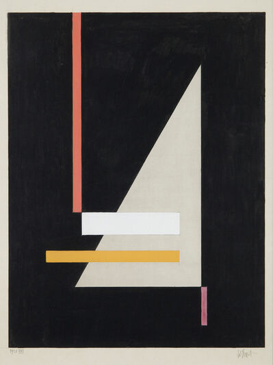 Walter Dexel, 'Mit grauem spitzen Dreieck XXI', 1923