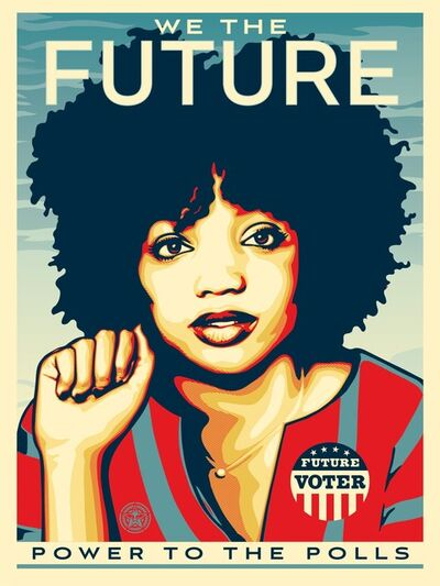 Shepard Fairey, 'WE THE FUTURE : Power to the Polls', 2018