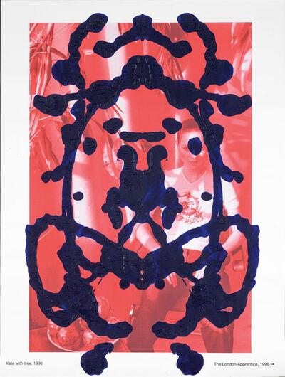Asher Penn, 'Kate Moss Rorschach T-Shirt - Blue on Red, 2013', 2013