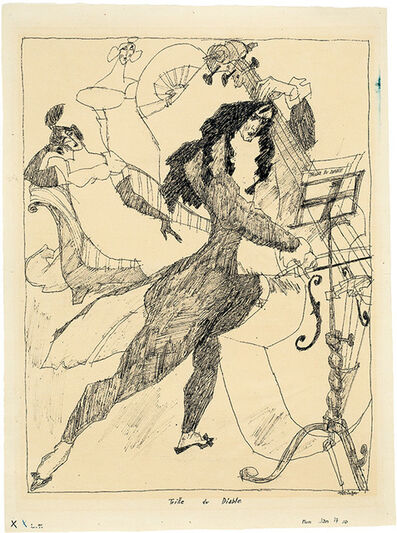 Lyonel Feininger, 'Trille du Diable', 1910