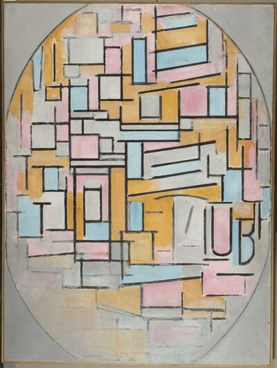 Piet Mondrian, 'Composition in Oval with Colour Planes 2', 1914