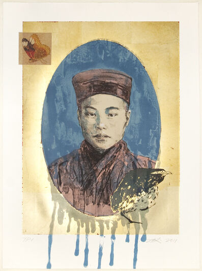 Hung Liu 刘虹, 'Butterfly Dreams: Blue Nun', 2011