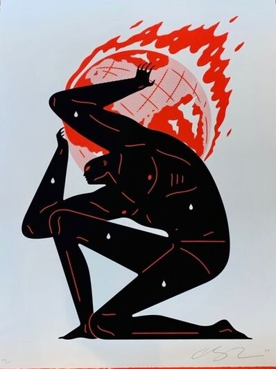 Cleon Peterson, 'World on Fire (White)', 2020