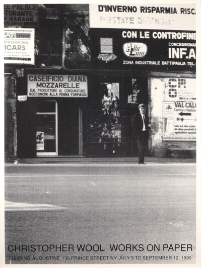 Christopher Wool, 'Works on Paper, July 5 to September 12, 1990', 1990