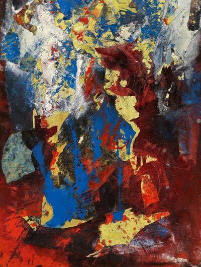 Fred Thieler, 'Flächenrelief in Rot', 1964