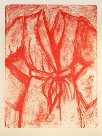 Jim Dine, 'Cream and Red Robe on a Stone', 2010