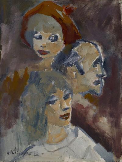 Mino Maccari, 'Tre Figure'