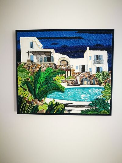 Caroline Larsen, 'Poolside House in Mykonos', 2019