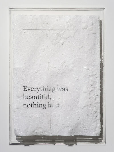 Cédric Maridet, 'Everything was beautiful, nothing hurt.', 2016