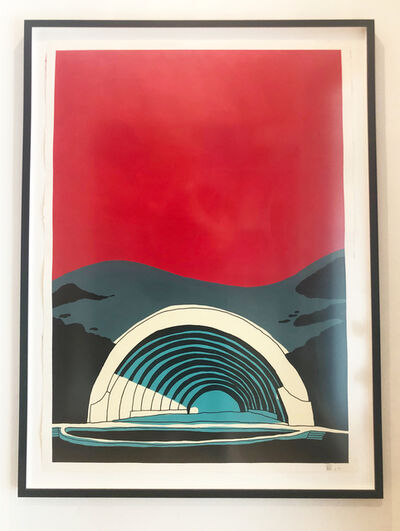 "Marz Junior, '""Los Angeles  Hollywood Bowl"" -red vertical framed ', 2019"
