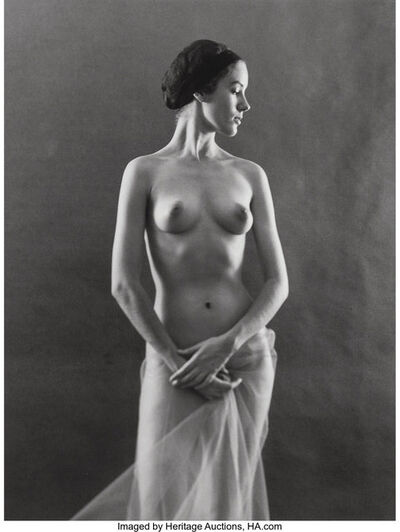 Ruth Bernhard, 'With Net Skirt', 1974