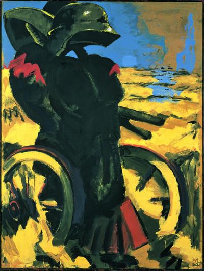 Markus Lüpertz, 'Schwarz Rot Gold I - dithyrambisch', 1974