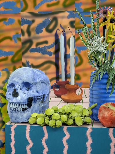 Daniel Gordon, 'Blue Skull with Candles, 2020', 2020