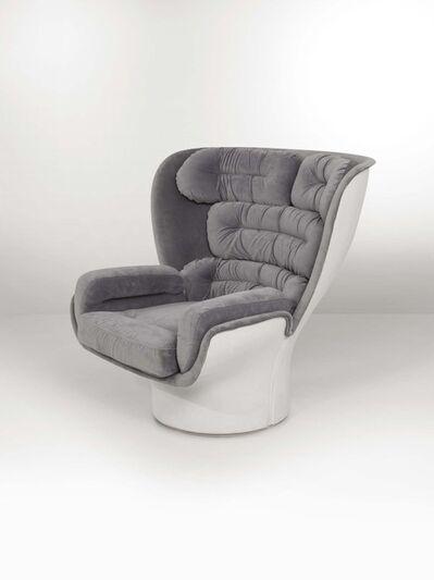 Joe Colombo, 'An Elda swivel chair in resin with fabric upholstery', 1960 ca.