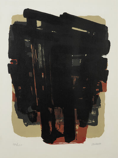 Pierre Soulages, 'LITHOGRAPHIE N°8', 1958