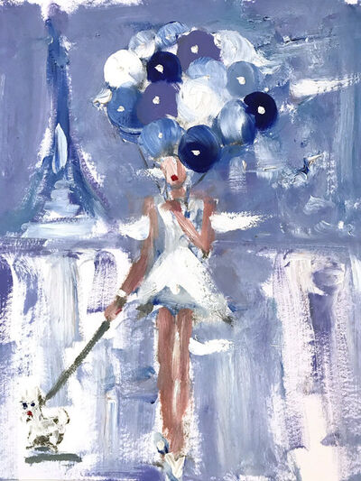 Cindy Shaoul, 'Girl with Balloons in Paris', 2020