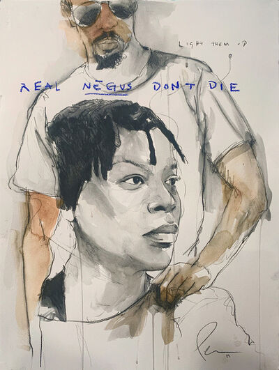 Fahamu Pecou, 'REAL NEGUS DON'T DIE: Light THEM Up (Sandra Bland)', 2019
