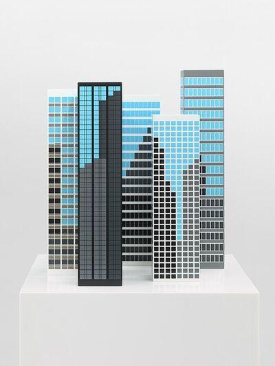 Julian Opie, 'Modern Towers 3', 2017