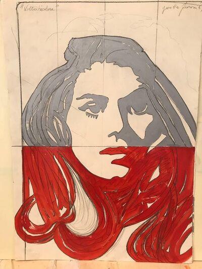Giosetta Fioroni, 'Volto Bicolore', 1969