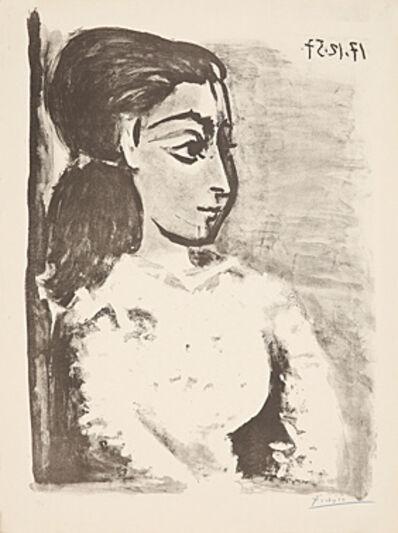 Pablo Picasso, 'Buste de femme au corsage blanc', 1957