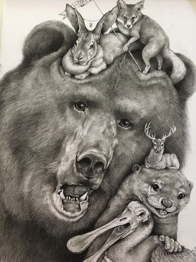 Adonna Khare, 'Grizzly and Bunny', 2017