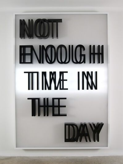 Doug Aitken, 'NOT ENOUGH TIME IN THE DAY (lightbox)', 2013