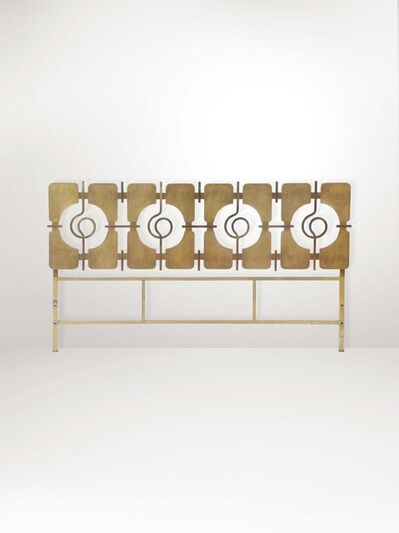 Luciano Frigerio, 'A headboard with a molten brass and brass structure', 1970 ca.