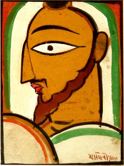 Jamini Roy, 'Untitled (Christ Profile)'