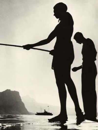 Herbert List, 'Friends Fishing, Lake Lucerne, Switzerland', 1937