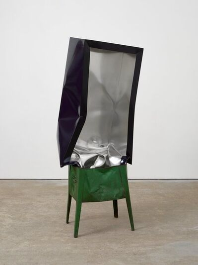 Angela de la Cruz, 'Crate (Navy with Green Box)', 2017
