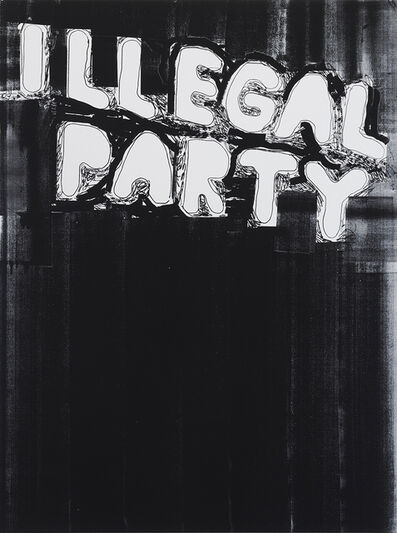 Stefan Marx, 'Illegal Party (Black)', 2020