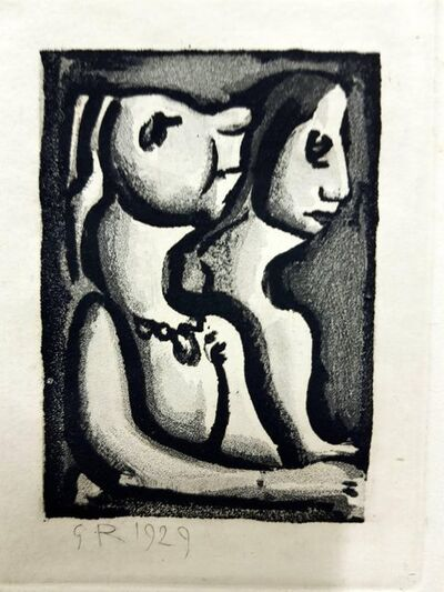 "Georges Rouault, 'Original Etching ""Ubu the King VII"" by Georges Rouault', 1955"