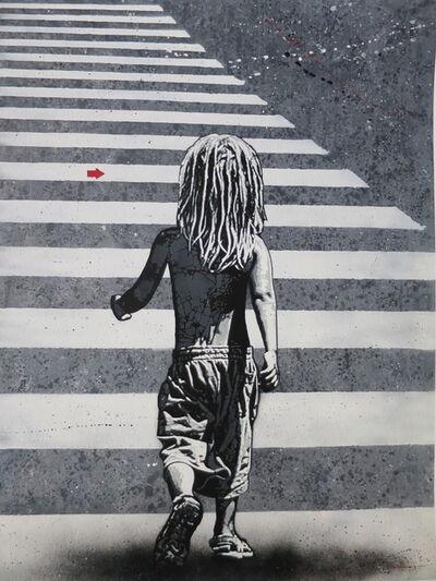 Jef Aérosol, 'Child crossing the street', 2020