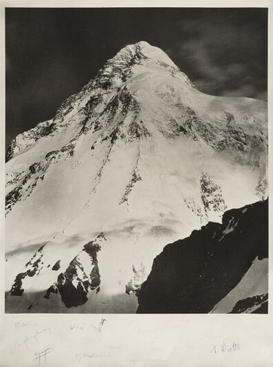 Vittorio Sella, 'Il k2 con gli autografi degli alpinisti della spedizione italiana del 1954', 1909/1954