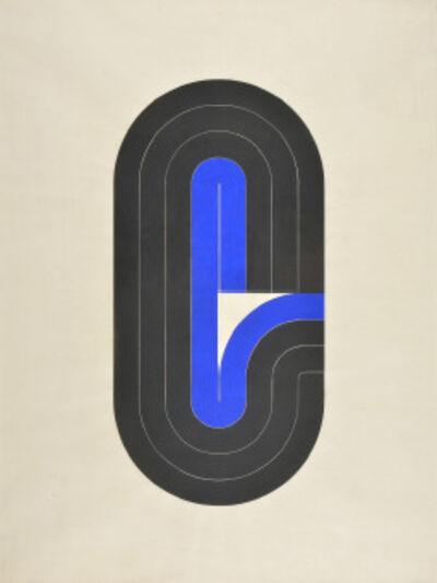 Luis Wells, 'Sin titulo (Azul y Negro)', ca. 1970