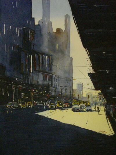 Soumya K Chakraborty, 'Cityscape3', 2007
