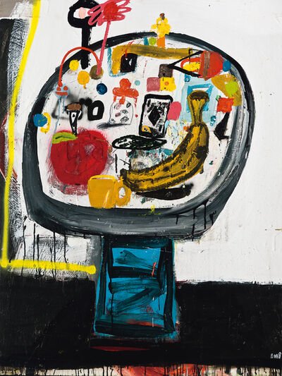 Eddie Martinez, 'Untitled (Table with Red Apple)', 2008