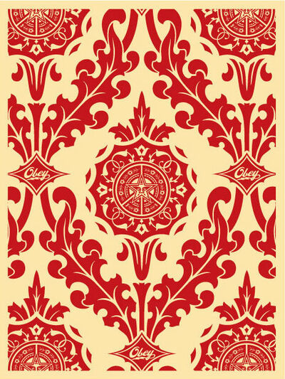 Shepard Fairey, 'Palor Pattern Cream/Red', 2010