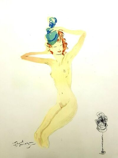 "Jean Gabriel Domergue, 'Original Lithograph ""Dressed Up"" by Jean-Gabriel Domergue', 1956"