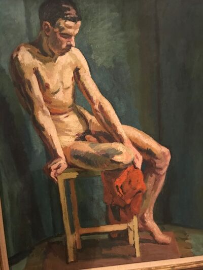 Duncan Grant, 'Seated Male Nude', ca. 1938